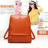 backpack tourist - 2016 Fashion backpack Genuine leather backpack lovely preppy type Durable and soft Good tourist backpack