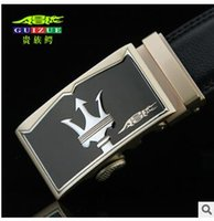 aristocrat silver - High end men s leather automatic buckle belt waistband aristocrat crocodile leather business