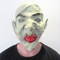 Wholesale Horror Hell Soldier Masks for Adult High Quality Green Demon Monster Mask for Festival Party Bar ML011