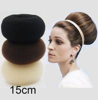 bun maker - 15CM Super Large Hair Volumizing Scrunchie Hair Donut Ring Style Bun Maker Bump Large inch