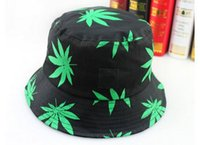 Wholesale Fashion Unisex Bucket Hats Maple leaf printed cotton cap Women Men Basin hats colors