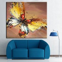 Wholesale 100 Handpainted Abstract Art Oil Painting Butterfly Beautiful Animal Paintings On Canvas Living Room Decor