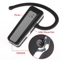 Wholesale 1080P Spy Bluetooth Headset Camera Audio Video Recorder V22 Mini Hidden Spy Camera