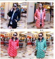 Wholesale 2014 woman feather hooded warm winter jacket women Warm down cotton padded jacket