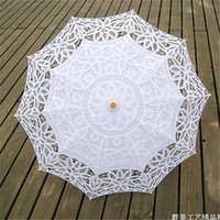 Wholesale 2015 Latest Design Wedding Accessories Handmade Bridal Parasols Lace Diameter inches Fashion Hand Holding Lace Sun Parasols