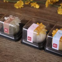 bakery container - 50 Big cake Container Clear Bakery Gift Box Muffin Cookie Packaging TL