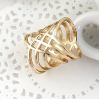brass knuckles rings - Brass Knuckles Free Fashion Design Jewelry Punk Style Alloy Gold Color Loop Round Rings For Women