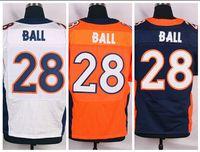 Football ball stops - Factory Outlet Montee Ball Men Elite Jersey Ball Football Jersey Size M XL Embroidery logos New Draft Jersey