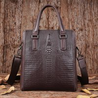 Wholesale Mens leather bag handbag men s diagonal commercial bag fashion shoulder bag men s brief fashion handbags