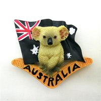 australia christmas gifts - Australia Koala Bear Fridge Magnets Figures animal toys car home office decoration party supply kids christmas gifts