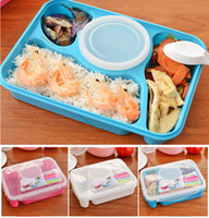 Wholesale 4in1 Portable Bento Lunch Box Microwave Oven Utensil Food Soup Storage Container
