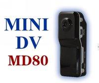 Wholesale MD80 Black Sports Video Camera web Cam Hot Selling Mini DVR Camera Mini DV Support G TF Card Video fps Megal Pixel