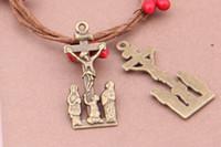 antique bronze crucifix - Crucifix apprentice Pendants x40mm Antique Bronze Bulk significa INRI Cross charm pendant