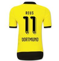 2015-16 Top Tailandia Jersey Dortmund # 11 Reus Inicio Fútbol Jersey 15-16, precio barato Jersey de fútbol personalizada camiseta de fútbol