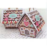 bakery house - DIY Food Boxes Gift Packaging Cupcake Bakery Cookie Candy Box Paper Boxes House Style Size cm