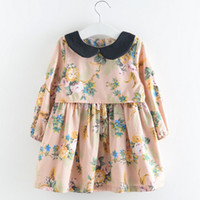 black baby doll - Kids Black Doll Collar Long Sleeve Fresh Style Floral Dress Spring Childrens Sweet Princess Dress Baby Girls Clothing