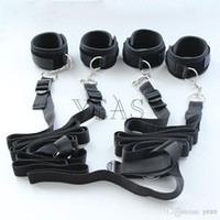 adult outlet - Factory Outlet Quality Guaranteed Adult toy Bondage Gear Bondage Cuffs Under bed Restraint With Cuffs Wrist Kit SM Game Toy