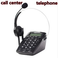 Wholesale Business Call Center Dialpad Headset Telephone with Tone Dial Key Pad REDIAL