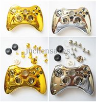 Wholesale Gold And Sliver Plated Full Housing Shell Case Kit Replacement Parts For Xbox Wireless Metal Controller