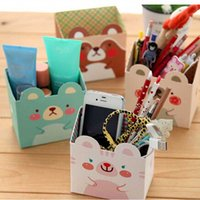 Cheap 1pcs DIY Makeup Cosmetic Stationery Paper Board Storage Box Desk Decor Organizer