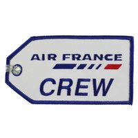 Fabric airlines logo - Air France French Airlines Crew Luggage Bag Tags With Customized Embroidered Logo Accept Any Color and Size200pcs per