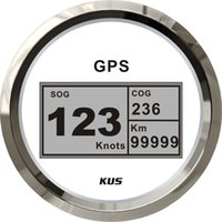 Wholesale 85mm digital GPS speedometer speedo GPS speedometer for car truck universal motorcycle white faceplate V V