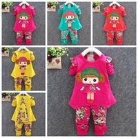 american infant doll - baby clothes baby girls sets infant girls spring fall outfits childrens long sleeve doll top tshirts flower pants girls clothing