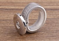 adjustable elastic bands - Noosa elastic adjustable ring button ginger snap rings for women fit mm Noosa jewelry
