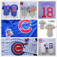 Wholesale Kris Bryant Jersey Cheap Chicago Cubs Baseball Ben Zobrist Jersey Cheap Chicago Cub Stitched High Quality Beige Blue Gray Green White