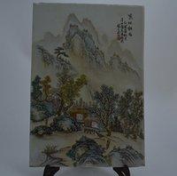 antique pastel - Republic of China Zhang soup Pastel Landscape meticulous imitation antique porcelain antique porcelain ornaments flea favorites