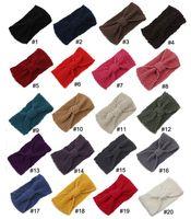 Wholesale 2015 Handmade Women s Fashion Wool Crochet Headband Knit winter color Hair band Flower Winter Ear Warmer headbands for women D687J