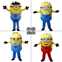 Wholesale Minions Mascot Costume Cartoon Despicable Me Styles Mascot Costume Adult Size Fancy Dress Up Minions Costumes