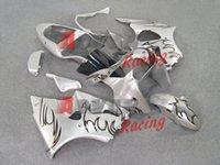Wholesale Fashion Silver pattern Injection Fairings Bodywork Set kit Kawasaki Ninja ZX6R