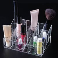 art storage rack - Makeup Organizer Squared Makeup Clear Organizer Cosmetic Nail Art Storage Rack Display Holder