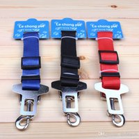 Wholesale 2014 Adjustable Pet Car Seat Safety Belt Seatbelt Pet for Cat Dog Balck Blue and Red WY330