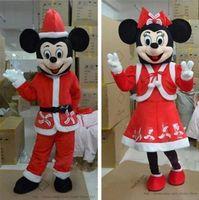 La navidad de Mickey y Minnie Mouse Trajes de la Mascota para Navidad y Año Nuevo