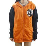 Wholesale 2Styles New Dragon Ball Z Son Goku Cosplay Hooded zipper hoodie Costume Unisex Cardigan long sleeve Jacket Daily Hoody