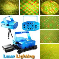 mini laser light show - New Blue Black Mini Projector Red Green DJ Disco Light Stage Xmas Party Laser Lighting Show LD BL AC V