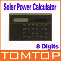 Wholesale 8 Digits Solar Power Thin Mini Small Card Style Calculator freeshipping dropshipping