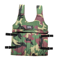 adjustable weighted vest - Adjustable Workout Training Weighted Vest Max kg Weight Loading Boxing Training Exercise Wearing Equipment Camouflage Y1398