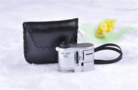 Wholesale Mini Pocket X Microscope Magnifier Loupe With LED Fluorescence Light Checking Monkey Jewelry Document hot