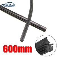 Wholesale 2015 New x Universal mm Black Silicone Wiper Blade Frameless for Car Bus Windshield
