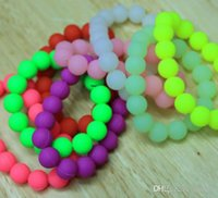 wholesale china beads - china wholesales good selling Beads type silicone bracelet with several colors white yellow green purple pink all in stock