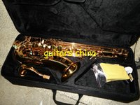 Wholesale NEW woodwind Golden Alto Sax Saxophone with case Musical instruments