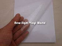 solvent film - Printable Clear Perforated Self Adhesive Vinyl Window Film One Way Vision Vinyl ECO Solvent Printer Size x50M Roll