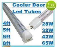 T8 70w SMD 2835 ul T8 4ft 5ft 6ft 8ft Cooler Door Led Tubes Single Pin FA8 Integrated V-Shaped 270 Angle Led Light Tube AC 85-265V