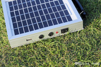 battery powered led light panel - Portable camping suitcase solar battery with W V solar panel for led light or mobile phone Independent solar power system