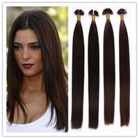 Cheap 8A Fusion Hair Extensions Brazilian Virgin Human Hair Flat Tip Hair Extensions 1G S 100G PC 300G LOT In STOCK Free Shipping