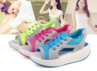 Wholesale Summer New Women Fashion Breathable Fish Mouth Sandals Ladies High Platform Sexy Toe sandals Girls Casual Sport Gym Shoe Fitness Shoes