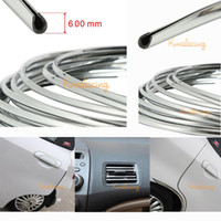 Wholesale 6mmx3m Car Exterior Decoration D U Style Line Side Styling Grill Strip Impact Interior Car Door Grille Trim Strip line Sticker